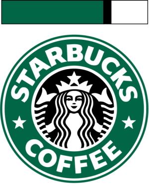 スターバックスのロゴの色の比率
