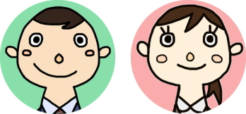 スタッフの顔のイラスト